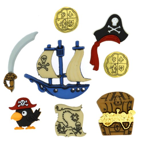 (DIU04045) - Dress It Up! Buttons - Pirates