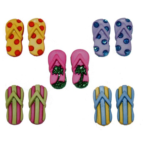 (DIU04824) - Dress It Up! Buttons - Fab Flops