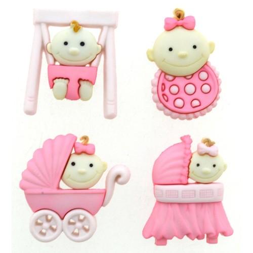 (DIU05195) - Dress It Up! Buttons - Baby Fun - Girl