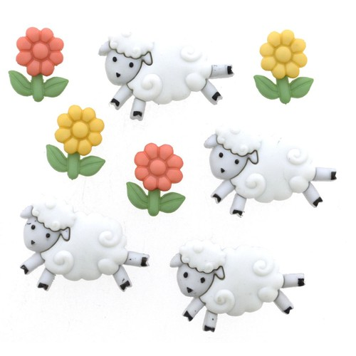 (DIU05798) - Dress It Up! Buttons - Counting Sheep