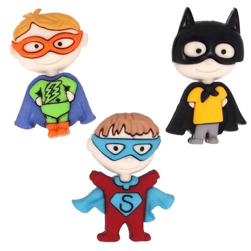 (DIU06542) - Dress It Up! Buttons - Be My Super Hero