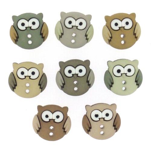(DIU06930) - Dress It Up! Buttons - Sew Cute Owls
