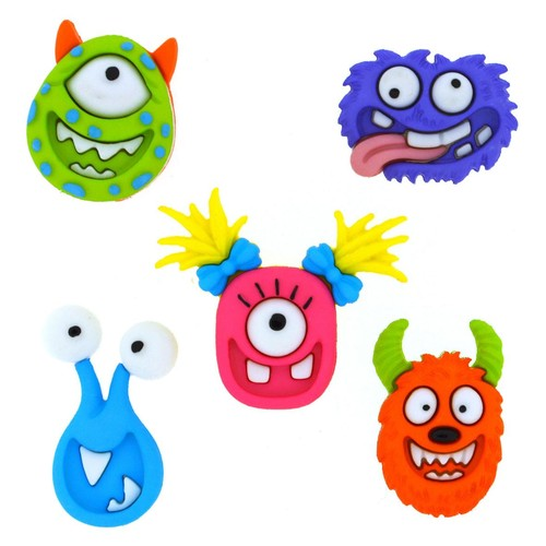 (DIU07671) - Dress It Up! Buttons - Mad For Monsters