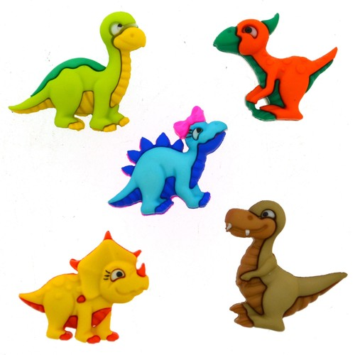 (DIU07675) - Dress It Up! Buttons - Dino-Mite
