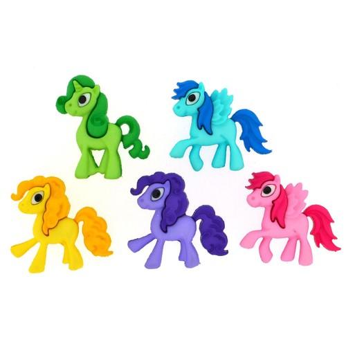 (DIU07684) - Dress It Up! Buttons - Pony Parade