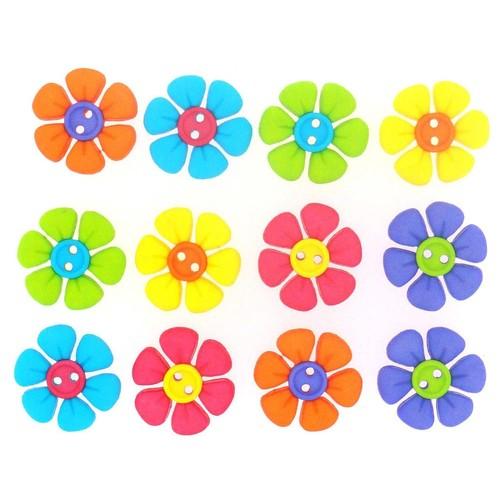 (DIU07691) - Dress It Up! Buttons - Button Flower