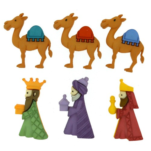 (DIU08048) - Dress It Up! Buttons - We Three Kings