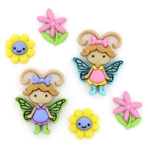 (DIU08294) - Dress It Up! Buttons - Flutter Bugs
