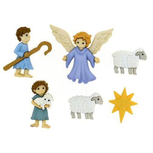 (DIU08816) - Dress It Up! Buttons - The Good Shepherd