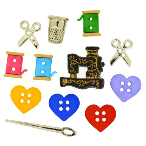 (DIU09062) - Dress It Up! Buttons - For The Love of Quilting