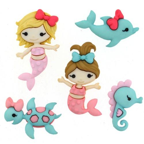 (DIU09320) - Dress It Up! Buttons - Mermaid Kisses