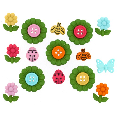 (DIU09372) - Dress It Up! Buttons - It's Your Time to Blossom