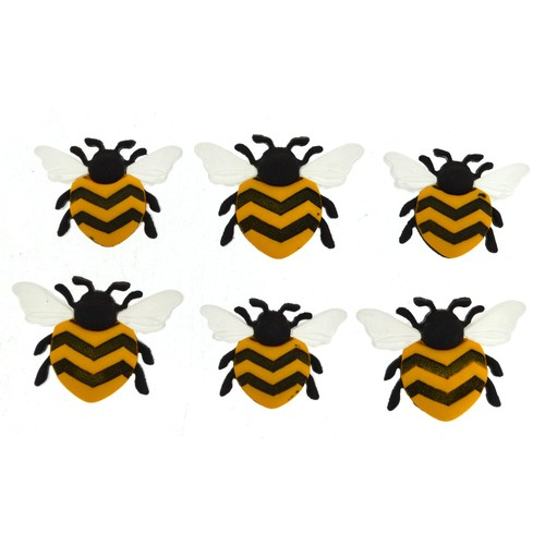 (DIU09382) - Dress It Up! Buttons - Bee Happy