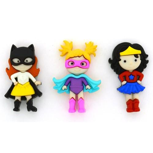 (DIU10411) - Dress It Up! Buttons - Girl Power