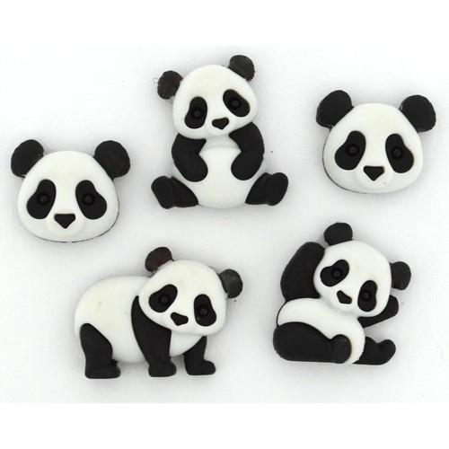 (DIU10421) - Dress It Up! Buttons - Panda Pile
