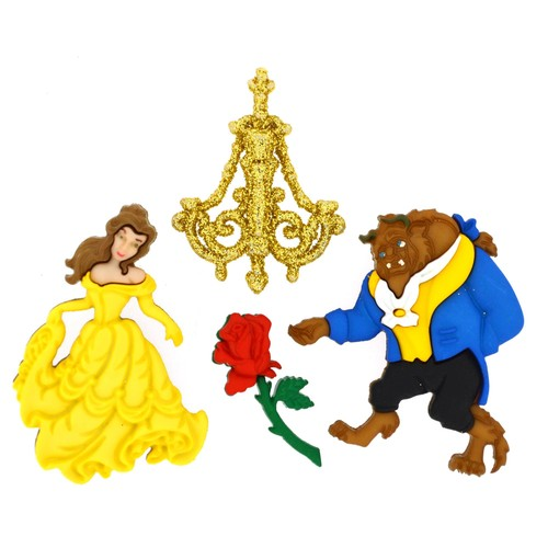 (DIUD07724) - Dress It Up! Disney Buttons - Beauty and The Beast