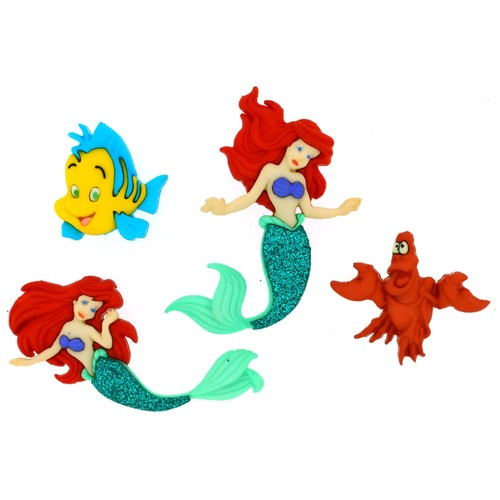 (DIUD07726) - Dress It Up! Disney Buttons - The Little Mermaid