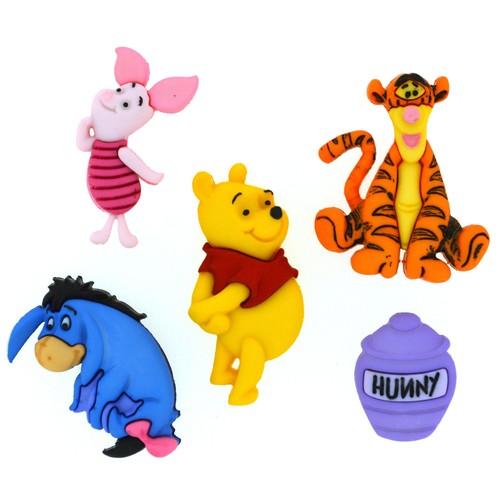(DIUD07729) - Dress It Up! Disney Buttons - Winnie the Pooh