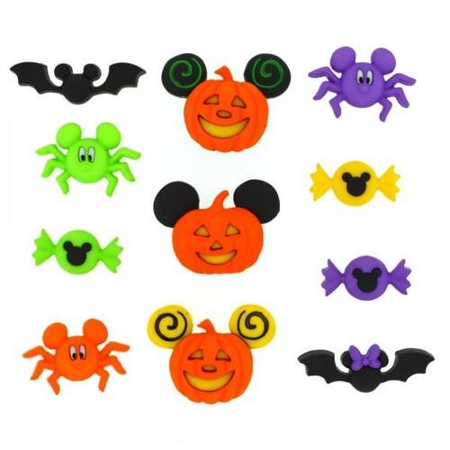 (DIUD07922) - Dress It Up! Disney Buttons - Mickey & Minnie Halloween