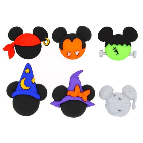 (DIUD07924) - Dress It Up! Disney Buttons - Mickey & Minnie Halloween Hats