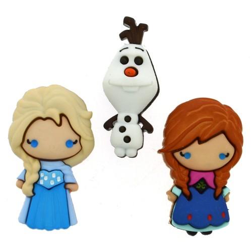 (DIUD08953) - Dress It Up! Disney Buttons - Elsa & Anna