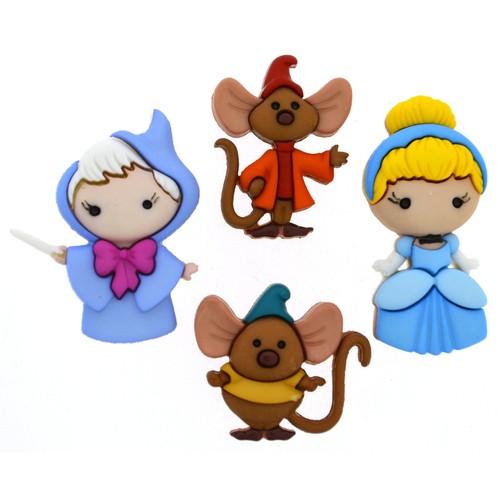 (DIUD08959) - Dress It Up! Disney Buttons - Cinderella