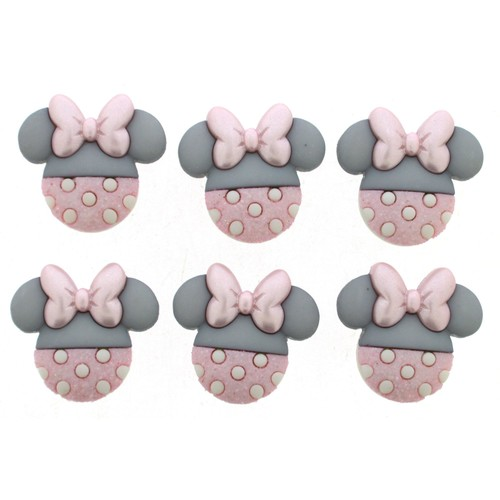 (DIUD08963) - Dress It Up! Disney Buttons - Baby Minnie