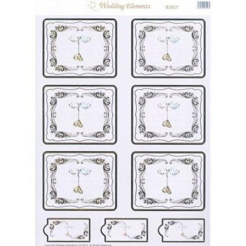 Wedding Elements Toppers Birds 10 Sheet Pack (EL017)