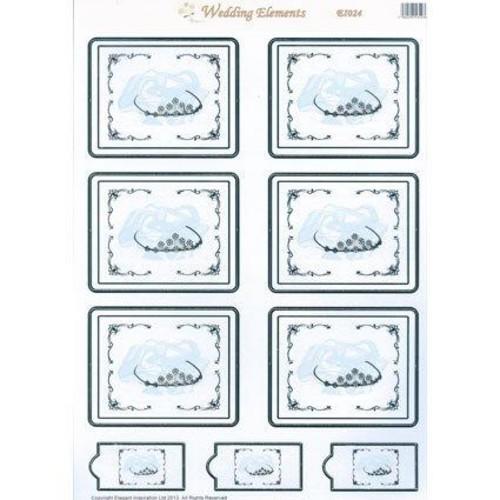 Wedding Elements Toppers Tiara 10 Sheet Pack (EL024)