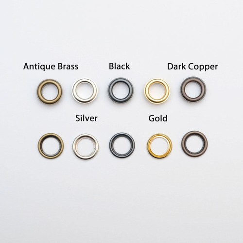 100 x Eyelets Loose 8mm (EY08) (Gold)