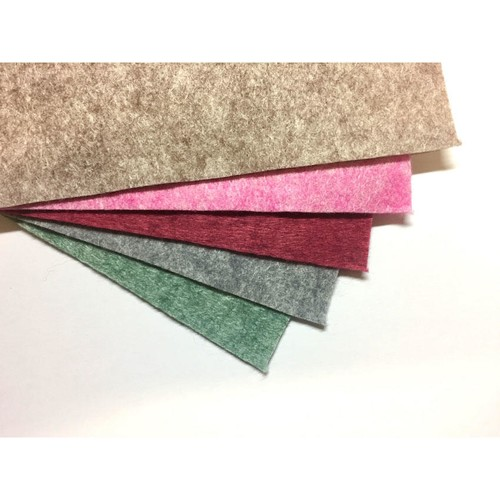 Felt Heathered Squares 12 x 12 Inch Assorted 10 Sheet Pack (F12HF)