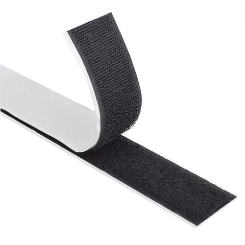 Self Adhesive / Stick On Hook & Loop Tape - 25m Reel