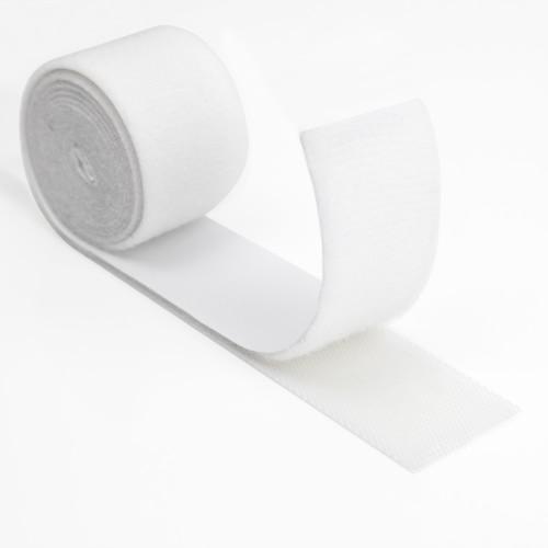 White Low Profile Hook & Loop Tape