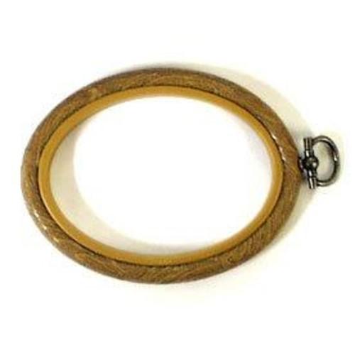 Flexi Hoop 4 x 5.5 Inch Oval Woodgrain (FH45)