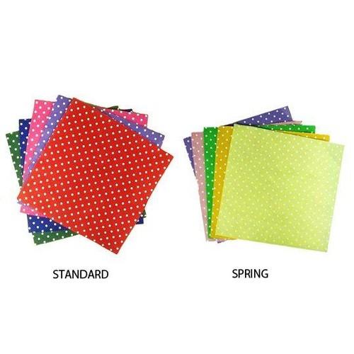 Felt Squares 12 x 12 Inch Polka/Micro Dot 10 Sheet Pack (FPD)