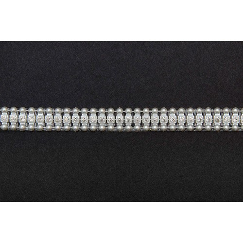 12mm Adhesive Hot Fix Pearl Trim With Diamante x 10m (FTD1511)