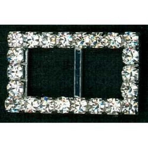 23mm Diamante Buckle Small Rectangle (G906)