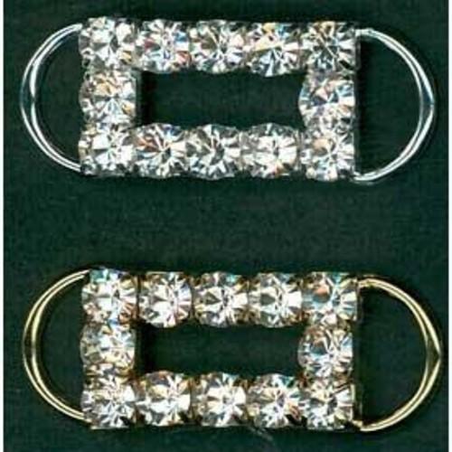 23mm Diamante Accessories Rectangle (G910)(Silver)