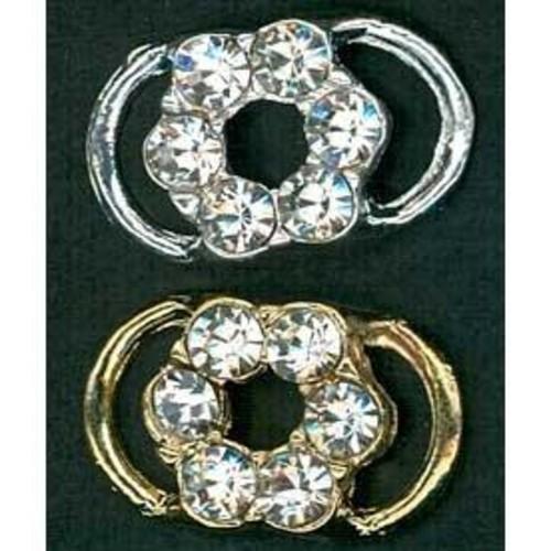 Diamante Accessories 14mm Flower (G911)(Silver)