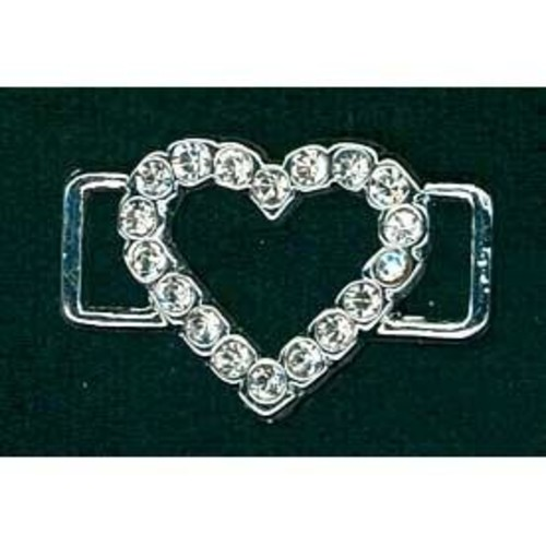 19mm Diamante Accessories Large Heart (G913)(Silver)