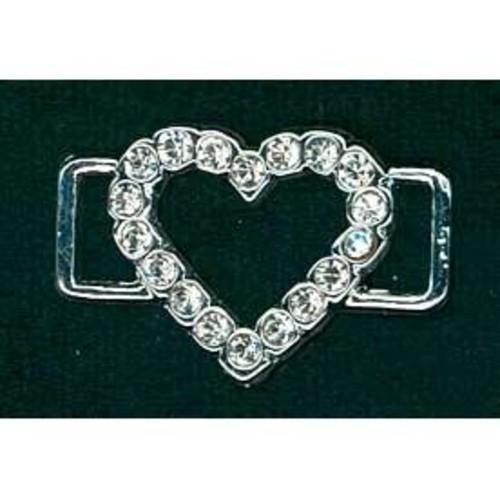 19mm Diamante Accessories Large Heart (G913)