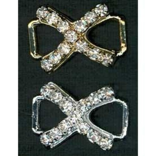 Diamante Accessories 17mm Criss Cross (G917)(Gold)