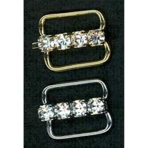 12mm Diamante Bra Accessories 1 Row (G918)(Silver)