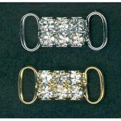 10mm Diamante Bra Accessories 2 Row (G921)(Silver)
