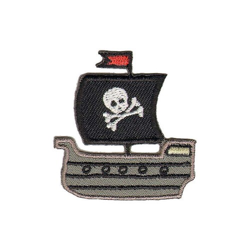 Pirate Ship 45mm x 46mm (Approx) Iron-on (GWAPP32003)