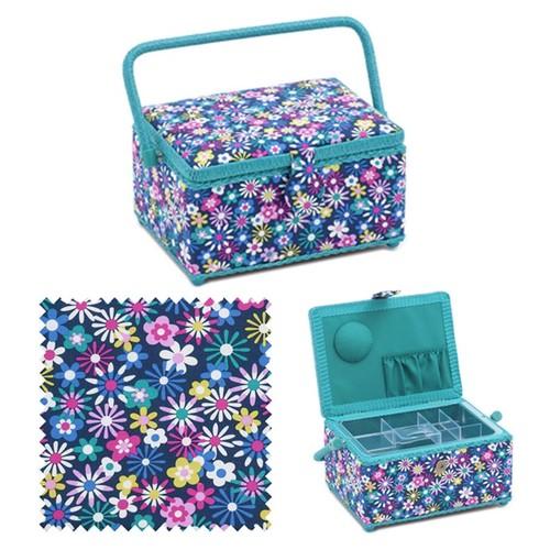 Flower-a-Plenty Sewing Basket (d/w/h): 18.5 x 26 x 15cm (HGM278)