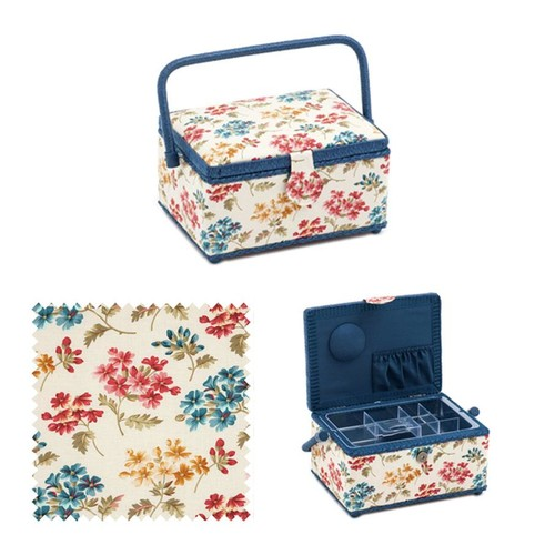 Floral Fairfield Sewing Basket (HGM282)
