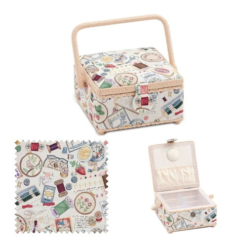Sewing Notions Sewing Basket (d/w/h): 20 x 20 x 11cm (HGS366)