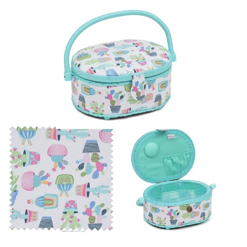 Cactus Party Sewing Basket (HGSO459)