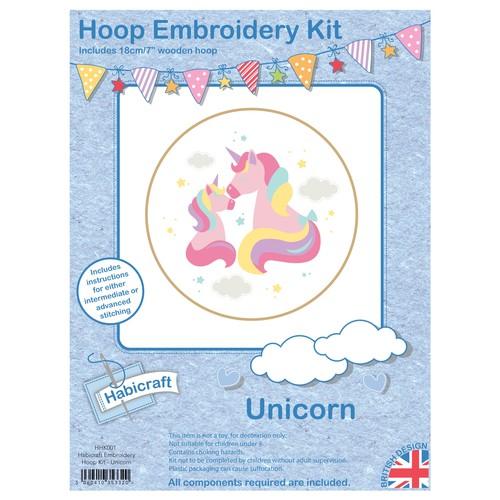 Habicraft Hoop Embroidery Kit Unicorn (HHK001)